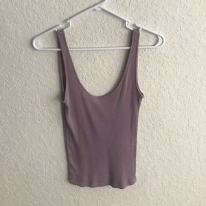 Lavender low back tank top